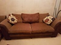 Good condition 3 & 2 seater sofas with footstool