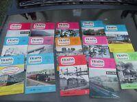 15 ISSUES TRAINS ILLUSTRATED MAGAZINE 1959-1961