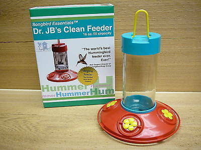 Dr. JB's Hanging Clean Hummingbird Feeder Original 16oz Songbird Essentials