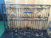 Double wrought iron Driveway gates