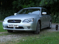 Subaru Legacy Estate Manual 2.0i Petrol AWD 2005 with both keys - £1750 ono MoT til 27 Nov.