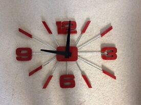 Newgate Red & Black wall clock