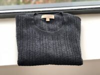 Burberry Men's Grey Cashmere Jumper (Small)