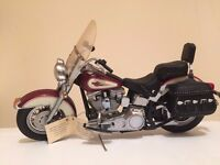 The Harley Davidson Heritage Softail Classic Model Scale Hand Assembled, Die Cast ....