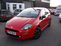 FIAT PUNTO TWIN AIR 2012 850CC FREE TAX 6 SPEED,BARGAIN £2495 CARDS WELCOME