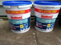 Unibond wall tile adhesive and grout