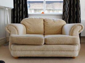 Cream / Beige 2 Seater Sofa in Excellent condition