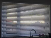 White Gloss Faux Wood Venetian Blinds