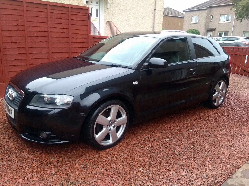 2008 57 audi a3 s line 2 0 tdi manual diesel black. Black Bedroom Furniture Sets. Home Design Ideas