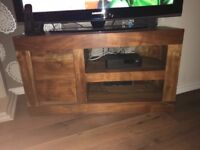 Solid mango wood tv cabinet & nest of tables