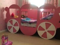 Carriage single bed girls bed