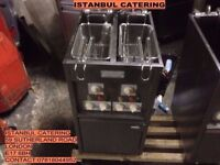 KEBAB TAKEAWAY CAFE VALENTINE FRYER DOUBLE BASKET DOUBLE TANK ELECTRIC FRYER FOR COMMERCIAL USE