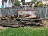 Free old decking & wood supports -never been treated with decking preservative