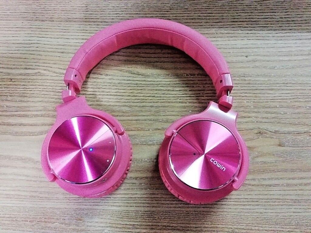 4e777bbe798 Cowin E7 PRO [2018 Upgraded] Active Noise Cancelling Headphone Bluetooth -  Pink