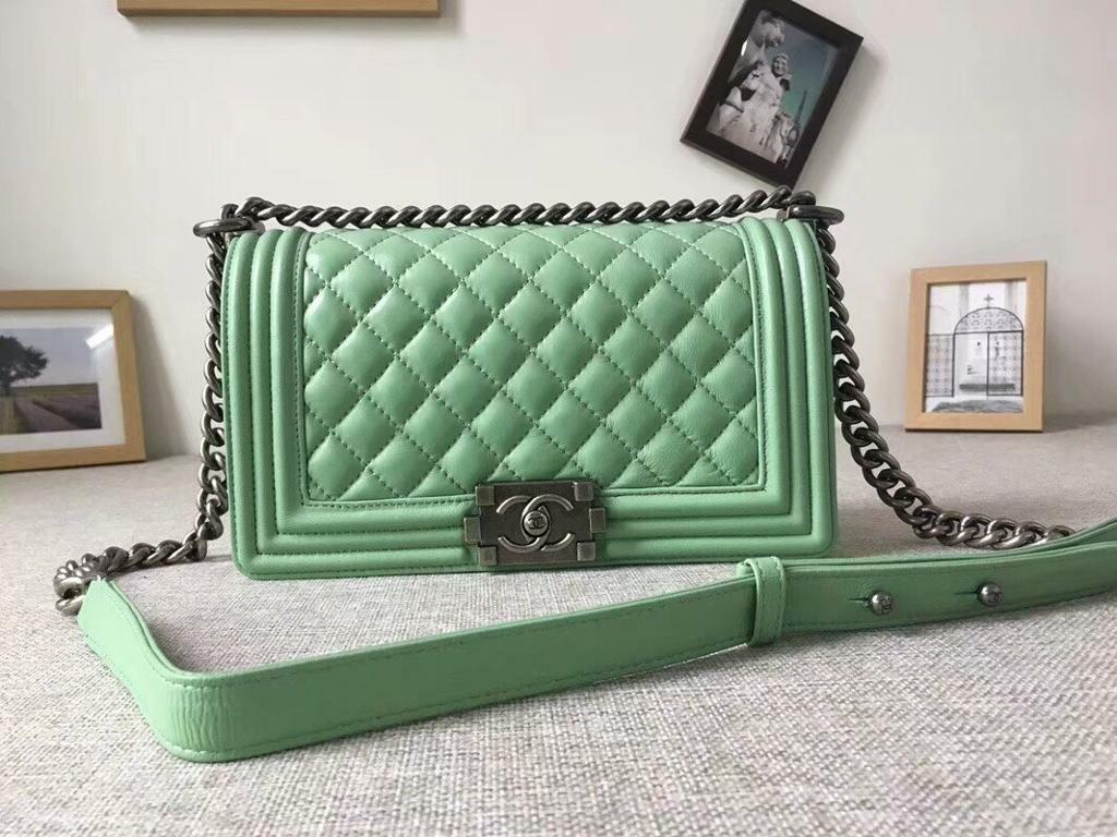d1329af6497b Chanel boy bag: mint green | in Warwick, Warwickshire | Gumtree