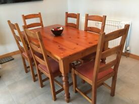 Kitchen/Dining table & 6 chairs