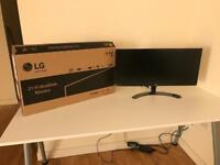 "LG widescreen monitor of 29"", NEW"