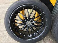 VW T5 18 inch alloy wheels, alloys rims, with tyres