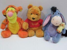 Small Cuddly/Plush Winnie the Pooh, Tigger & Eore