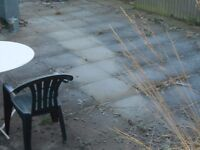 Free to collect - 200 used paving slabs 600 x 600 x 50mm