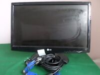 """LG W2243S-PF 22"""" Black Monitor Screen 1920 x 1080 pixels LCD with cables"""