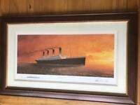 Framed Titanic picture