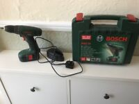 BOSCH 18v CORDLESS DRILL DRIVER PSR18 with case and charger
