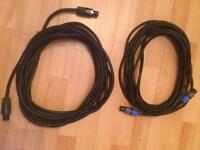 Speakon to speakon cables (2 of)