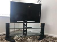 Sony Flat screen TV with glass display stand