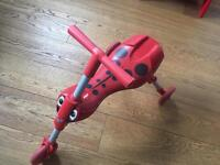 Scuttlebug fold-up tricycle