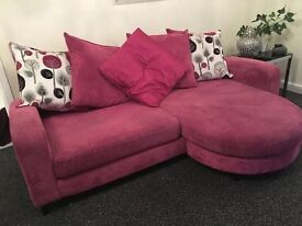 THREE SEATER PINK SOFA, VERY COMFORTABLE GOOD CONDITION