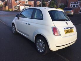 Fiat 500 1.2 Pop White, in excellent condition, tax and warranty until May 2018 only £30 yr tax!