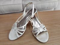 Clarks Cream Satin Sandals