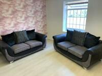 Modern Style Two & Seater Sofas in Charcoal ** EX DISPLAY **
