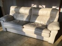 Large Leather sofa, free to collect.