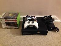 Xbox 360, 2 Controllers + 10 games