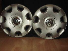 VW [ Polo, Golf .............etc] used wheel trims. £15.00 Each.