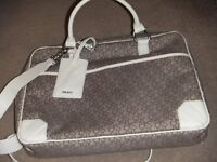 ( NEW with tag ) DKNY monogram laptop bag / crossbody bag