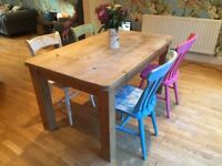 Solid Wood Dining Room Table & Chairs Shabby Chic