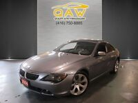 2004 BMW 6 Series 645Ci Coupe Navigation 6Speed 19ALLOYS