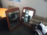 pair of large mirror good for barber shop, salon,dance