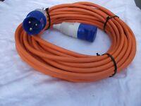 20m hook up lead, suitable for motorhome or caravan