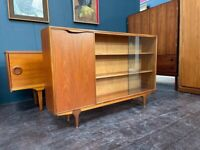 Bookcase / Drinks Cabinet / Compact Sideboard in Teak by Mcintosh. Retro Vintage Mid Century. 1960s