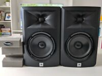 JBL LSR305 Active Studio Monitor Speakers Pair