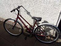 Ladies Bike 18 inch frame Halfords Appollo CX10