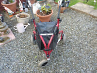 Simply Med 3 Tri-Wheel mobility Walker with Lockable Brakes and Carry Bag comes in Great condition