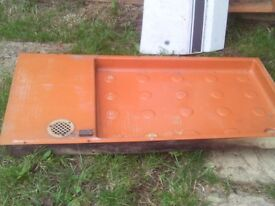 caravan brown shower tray