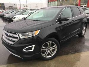 2015 Ford Edge TITANIUM AWD CUIR BRUN NAVI JAMAIS ACCIDENTÉ