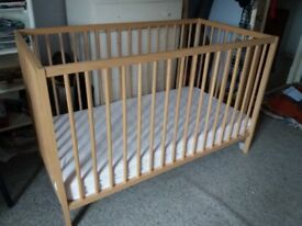 Child's cot - as new