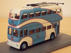 TWO YORKSHIRE TROLLEYBUSES IN 1/76 SCALE